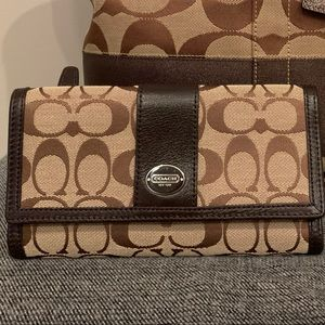 Coach monogram wallet